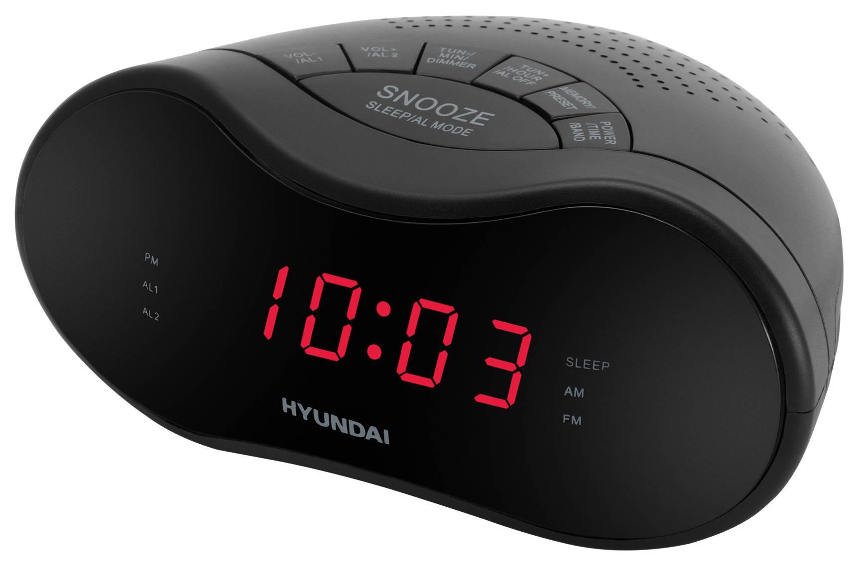Радиобудильник Hyundai H-RCL160 черный - фото 1