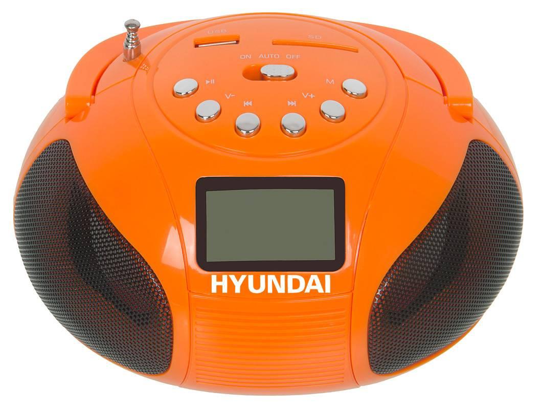 Магнитола Hyundai H-PAS120 оранжевый - фото 1