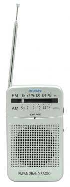 Радиоприемник Hyundai H-PSR120 серебристый