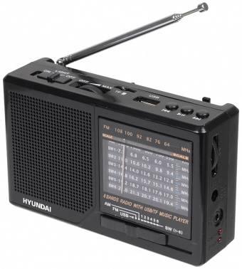 Радиоприемник Hyundai H-PSR140 черный