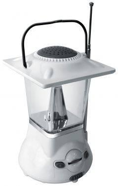 Кемпинговый фонарь Радиоприемник Hyundai H-RLC110 белый/серый