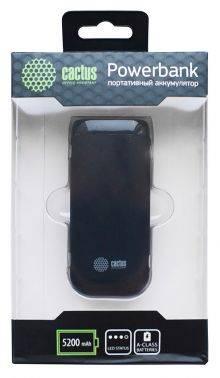 Мобильный аккумулятор CACTUS CS-PBHTST-5200 черный