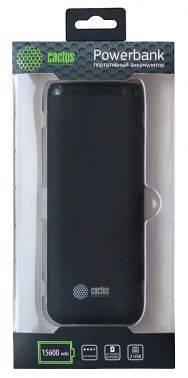 Мобильный аккумулятор CACTUS CS-PBHTST-15600 черный