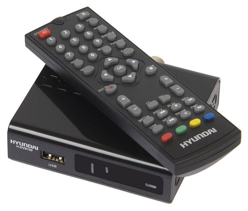 Ресивер DVB-T2 Hyundai H-DVB100 черный - фото 3