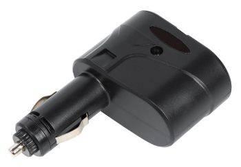 Разветвитель розетки прикуривателя Digma DCN-12P2 черный