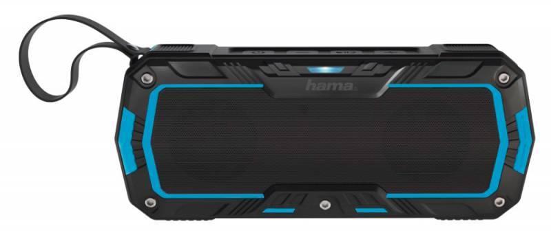 Колонка портативная Hama Rockman-L черный/синий (00173112) - фото 1