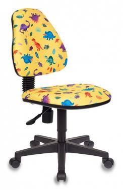 Кресло детское Бюрократ KD-4 / DINO-Y желтый