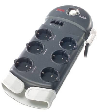 Сетевой фильтр APC PH6T3-RS 2.4м серый - фото 1