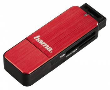 Картридер USB3.0 Hama H-123900 красный