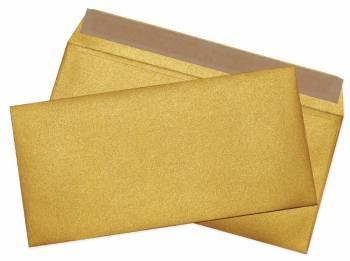 Конверт Cocktail 52120MG.1 E65 110x220мм золотой металлик силиконовая лента 120г / м2 Лабиринт (pack:1pcs)