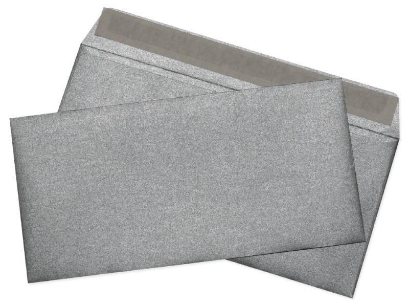 Конверт Cocktail серебристый металлик, формат E65, в упаковке 1шт. (52120MS.1) - фото 1