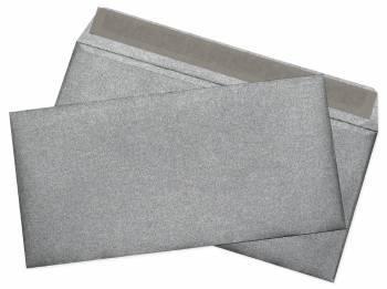 Конверт Бюрократ Cocktail серебристый металлик, формат E65, в упаковке 1шт. (52120MS.1)