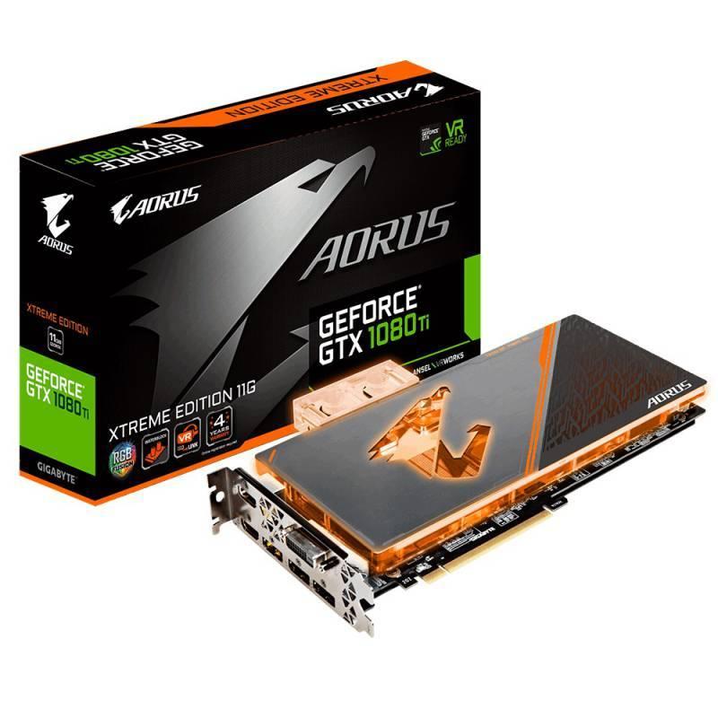 Видеокарта Gigabyte GeForce GTX 1080 Ti AORUS X WB-11GD 11264 МБ (GV-N108TAORUS X WB-11GD) - фото 1