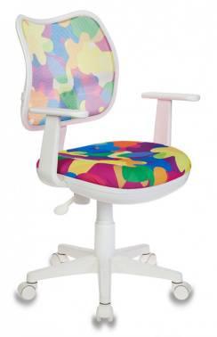 Кресло детское Бюрократ CH-W797 мультиколор/мультиколор (CH-W797/ABSTRACT)