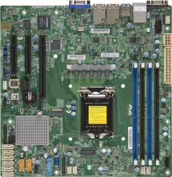 Серверная материнская плата Soc-1151 SuperMicro MBD-X11SSH-F-B mATX