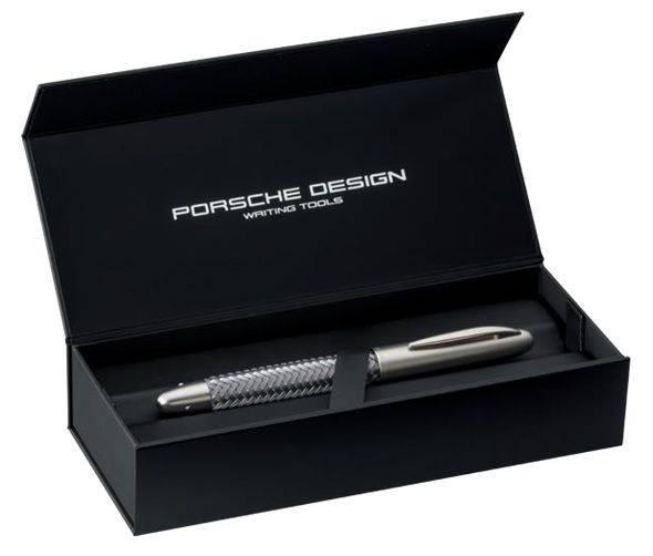 Ручка шариковая Pelikan Porsche Design Shake Pen P`3140 (989350) carbon, коробка подарочная - фото 2
