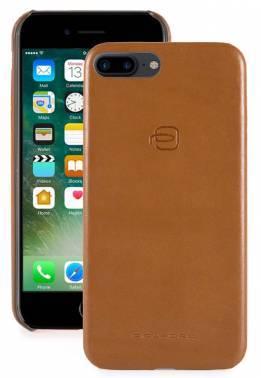 Чехол Piquadro Bagmotic, для Apple iPhone 7 Plus/8 Plus, светло-коричневый/синий (AC3215BM/CUBL)