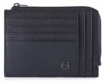 Чехол для кредитных карт Piquadro Black Square PU1243B3R / BLU синий натур.кожа