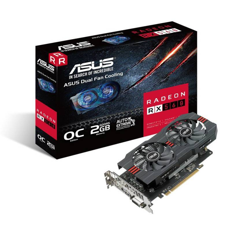 Видеокарта Asus Radeon RX 560 2048 МБ (RX560-O2G) - фото 6