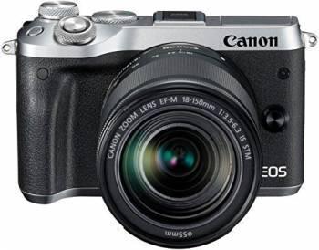 Фотоаппарат Canon EOS M6 kit серебристый (1725C022)