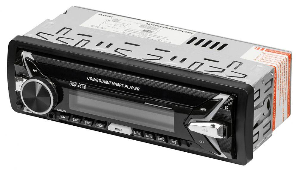 Автомагнитола Digma DCR-400B - фото 2