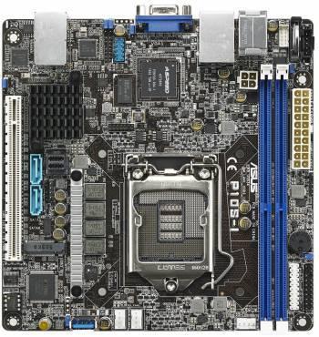 Серверная материнская плата Soc-1151 Asus P10S-I mini-ITX (90SB05E0-M0UAY0)