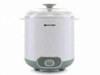 Йогуртница Kitfort KT-2005 белый / зеленый