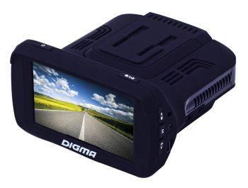 Видеорегистратор с антирадаром Digma DCD-300 черный