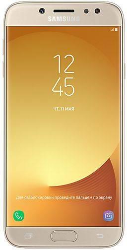 Смартфон Samsung Galaxy J7 (2017) SM-J730 16ГБ золотистый - фото 1