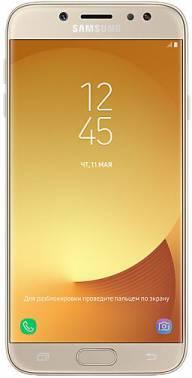 Смартфон Samsung Galaxy J7 (2017) SM-J730 16ГБ золотистый