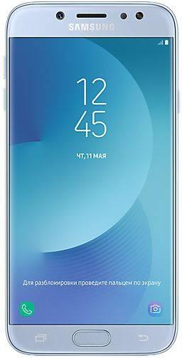 Смартфон Samsung Galaxy J7 (2017) SM-J730 16ГБ голубой (SM-J730FZSNSER) - фото 1