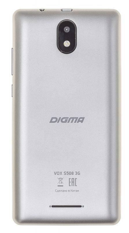 Смартфон Digma S508 3G VOX 16ГБ серый (VS5031PG) - фото 4