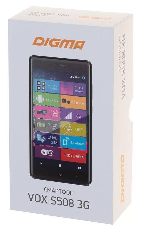 Смартфон Digma S508 3G VOX 16ГБ серый (VS5031PG) - фото 16