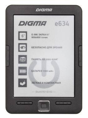 """Электронная книга 6"""" Digma E634 черный"""