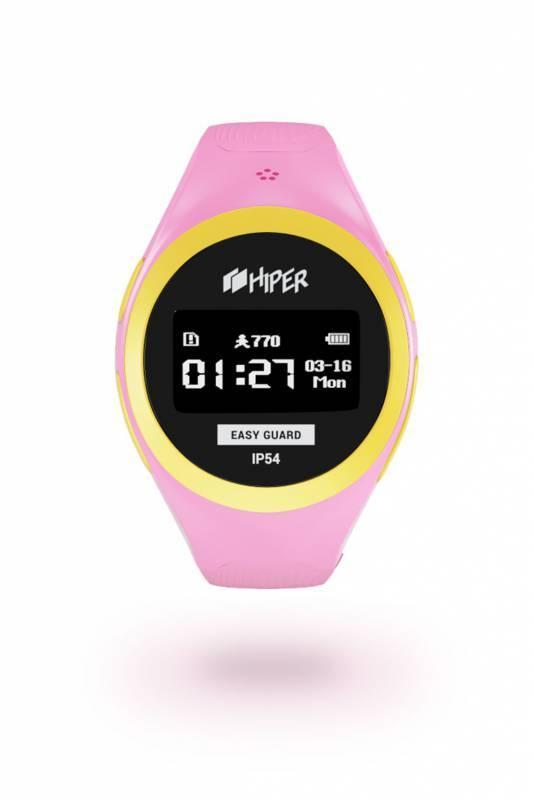 Смарт-часы HIPER EasyGuard розовый - фото 1