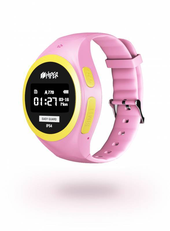 Смарт-часы HIPER EasyGuard розовый (EG-01PNK) - фото 2