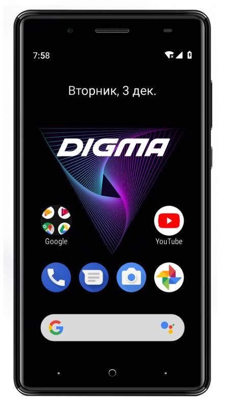 Смартфон Digma Q500 3G HIT 8ГБ черный - фото 1