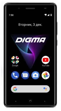 Смартфон Digma Q500 3G HIT 8ГБ черный (HT5035PG)