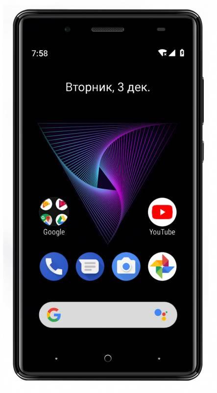 Смартфон Digma Q500 3G HIT 8ГБ черный - фото 2