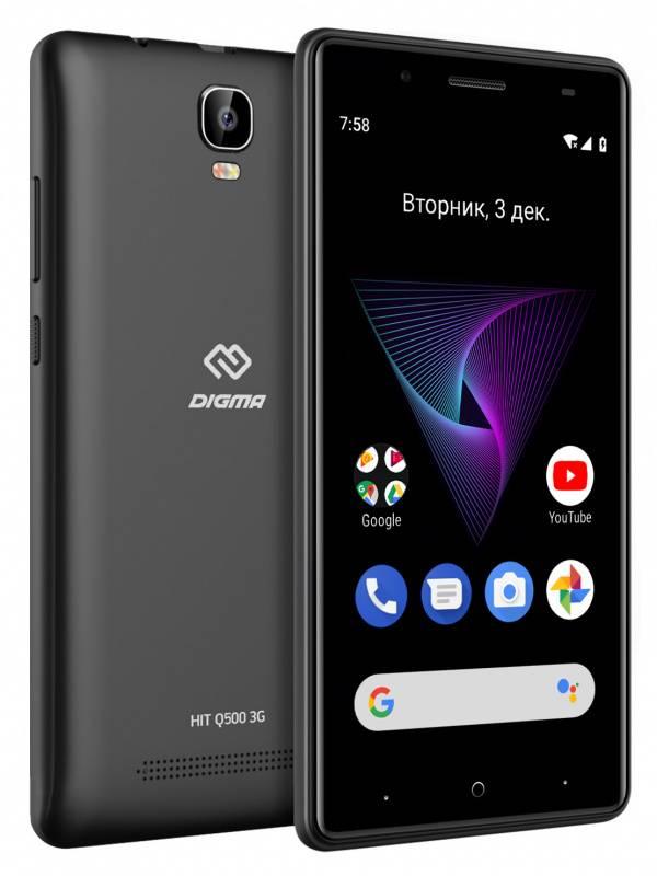 Смартфон Digma Q500 3G HIT 8ГБ черный - фото 5