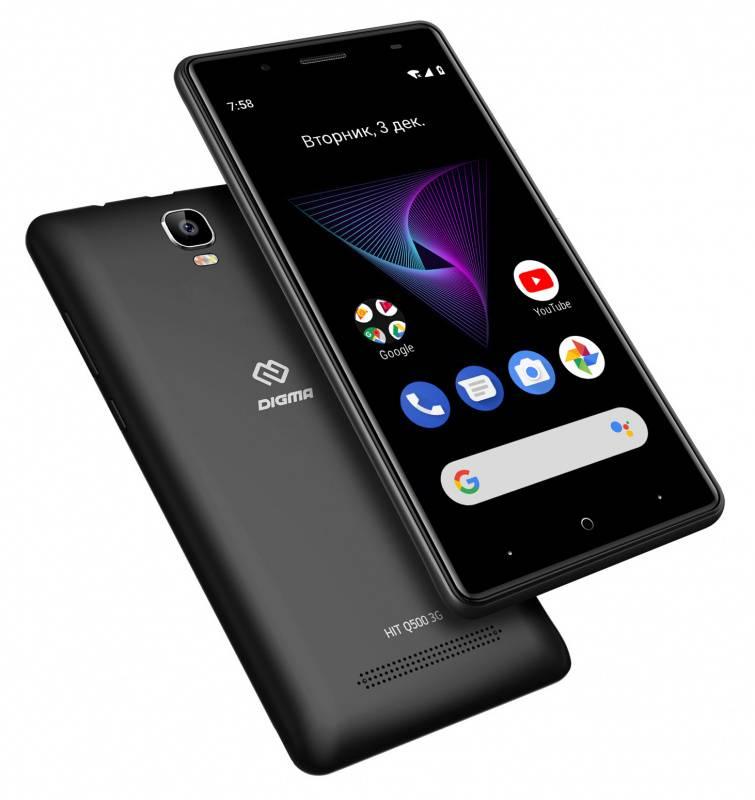 Смартфон Digma Q500 3G HIT 8ГБ черный (HT5035PG) - фото 6