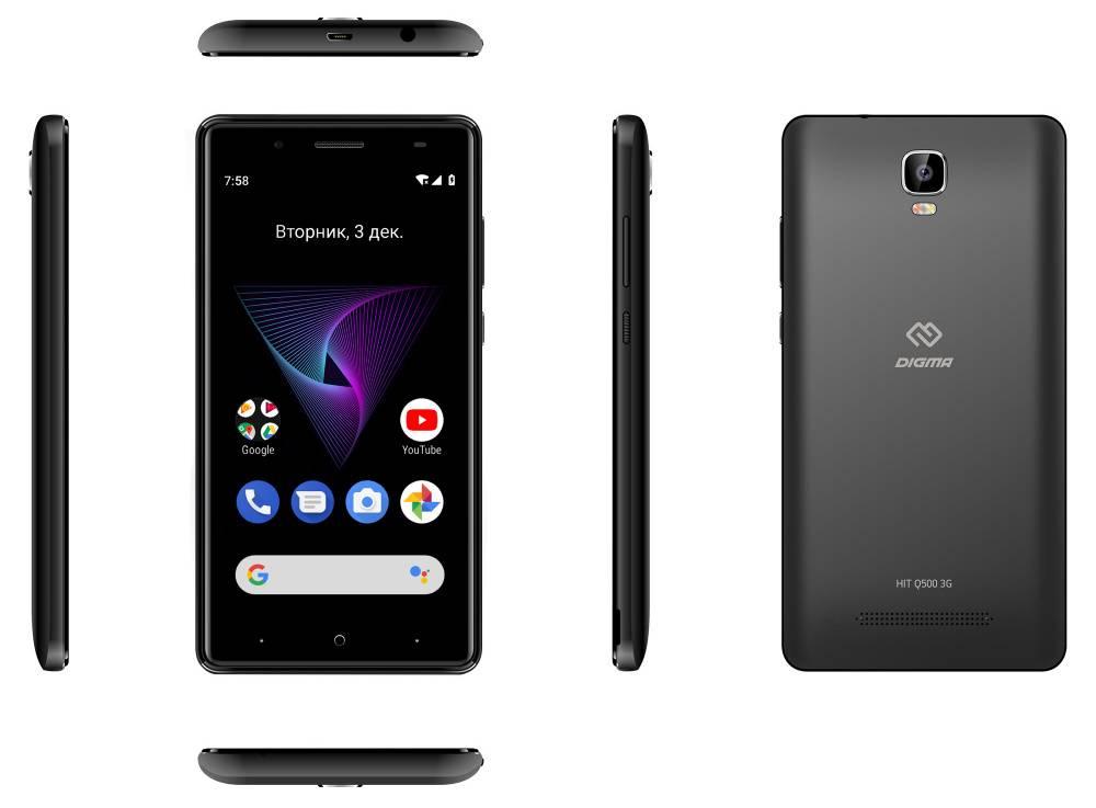 Смартфон Digma Q500 3G HIT 8ГБ черный - фото 8