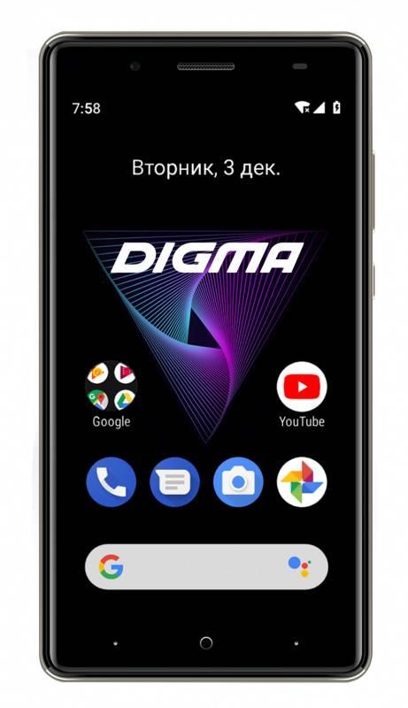 Смартфон Digma Q500 3G HIT 8ГБ серый (HT5035PG) - фото 1