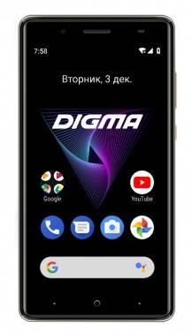 Смартфон Digma Q500 3G HIT 8ГБ серый (HT5035PG)