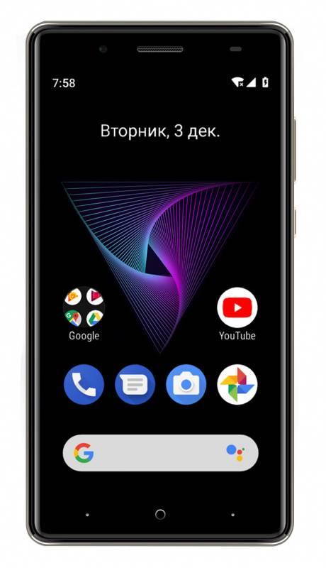 Смартфон Digma Q500 3G HIT 8ГБ серый (HT5035PG) - фото 2