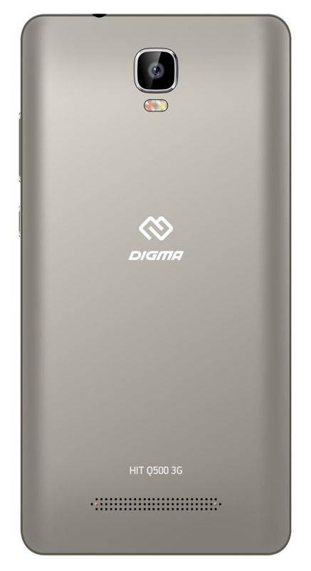 Смартфон Digma Q500 3G HIT 8ГБ серый (HT5035PG) - фото 3
