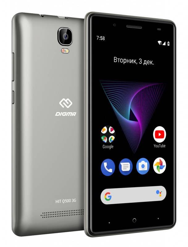 Смартфон Digma HIT Q500 3G 8ГБ серый (HT5035PG) - фото 5