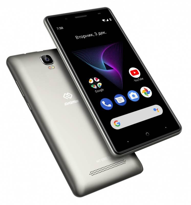 Смартфон Digma Q500 3G HIT 8ГБ серый (HT5035PG) - фото 6