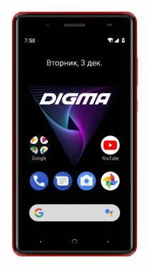 Смартфон Digma Q500 3G HIT 8ГБ красный (HT5035PG)