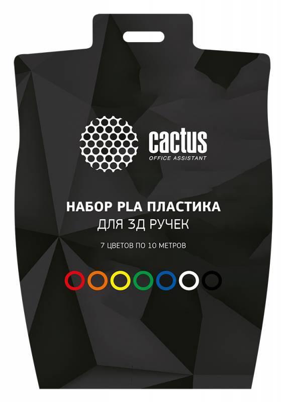 Пластик для ручки 3D Cactus CS-3D-PLA-7X10M PLA d1.75мм L10м 7цв. - фото 1